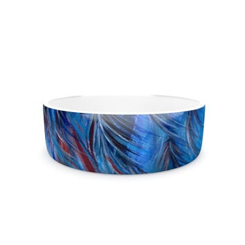 "Rosie Brown ""Red White Tropical"" Pet Bowl"
