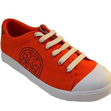 Tory Burch Women Wally Sneaker Canvas Rubber Shoes 7.5