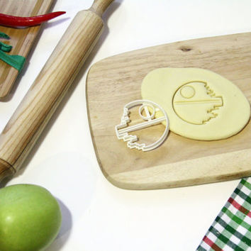 Star Wars Cookie Cutter StarWars Death Star Cookie Cutter Cupcake topper Fondant Gingerbread Cutters - Made from Eco Friendly Material
