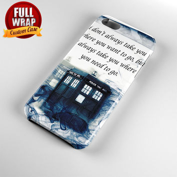 Tardis Smoke Full Wrap Phone Case For iPhone, iPod, Samsung, Sony, HTC, Nexus, LG, and Blackberry
