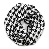 HauteChicWebstore Houndstooth Infinity Scarf Black and White - www.shophcw.com