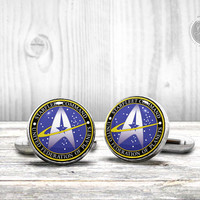 STAR TREK Wedding Cufflinks - Very elegant wedding team cuff links