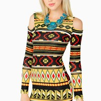 Rasta Tribe Cold Shoulder Dress