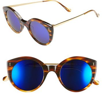 Women's Illesteva 'Palm Beach' 50mm Round Sunglasses