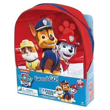 Paw Patrol 3 Pk. Carry & Go Puzzle Pack By Cardinal