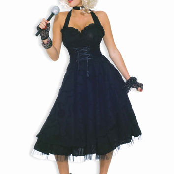 Halloween Costumes 80's Material Pop Star Costume Womens