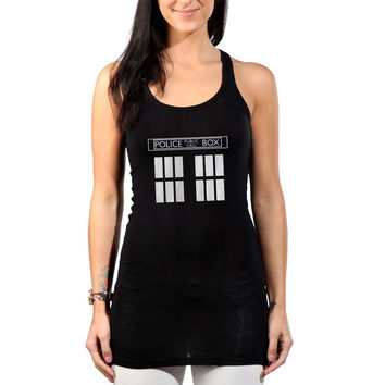 Dr Who Tardis Womens Tank Top *