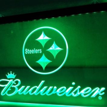 LD285- Pittsburgh Steelers Budweiser NR LED Neon Light Sign