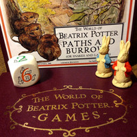 Vintage The World Of Beatrix Potter - Paths and Burrows board game - Complete, Mint, Rich with Character