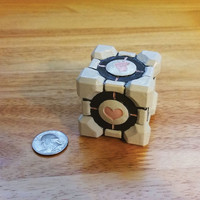 Companion Cube, Weighted Companion Cube, Portal Weighted Companion Cube, Aperture Science, Portal, Think Geek, Geek Gadgets, 3D Portal Cube