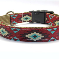 Aztek Geometric LARGE Dog Collar