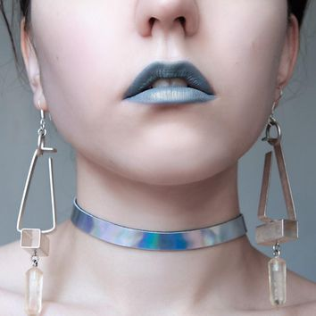 Holographic Choker Necklace for Women