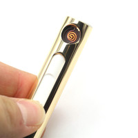 1 Pcs New Arrival USB Electronic Rechargeable Battery Flameless Cigar Cigarette USB Lighter Smoking Accessories