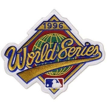1996 World Series MLB Baseball Jersey Sleeve Patch - Yankees over Braves - Ships w/ Tr