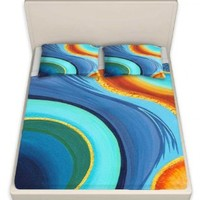 Sheet Set Thin Fleece Microfiber from DiaNoche Designs by Gwen Meades Home Décor Bedroom and Bathroom Ideas - Sea Breeze II