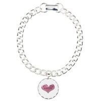 Do not Resuscitate Pink Heart Charm Bracelet, One on CafePress.com