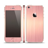 The Rose Gold Brushed Surface Skin Set for the Apple iPhone 5s