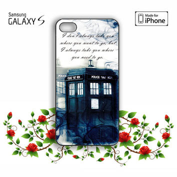 Tardis Doctor Who Smoke Quotes iPhone 5, 5s, 5C, 4, 4S , Samsung Galaxy S3, S4, S5 , iPod Touch 4 / 5 Case