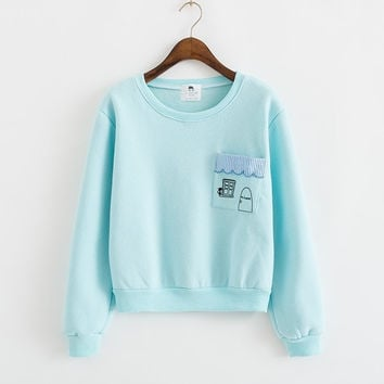 2015 Korean Version Of The New Autumn And Winter Sweater, Thick Fleece Sweater, Sweaters School Uniforms = 1946193540