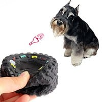Dog's Toys Tyre Treads Tough Dog Toy Puppy Pet Chew Squeaky Toys Hard Wearing Rubber