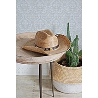 Vintage Straw  Sunset Cowgirl Hat