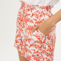Wide shorts - White/Orange - Ladies | H&M GB
