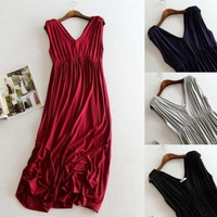 Maternity clothing Soft Dress clothes for Pregnant Women maternity dresses