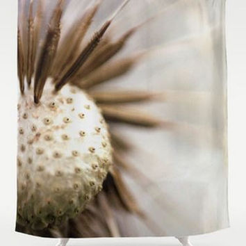 Shower Curtain - Dandelion Photo - Nature Photo - Made to Order