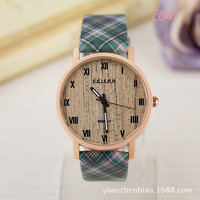 Great Deal Designer's Good Price Awesome New Arrival Trendy Gift Stylish Plaid Dial Unisex Waterproof Watch [6258188550]