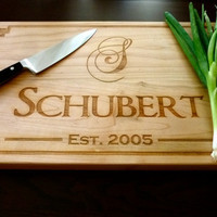 Personalized Wood Chopping Block - Custom Engraved - Maple - 12 x 20 x 1.5
