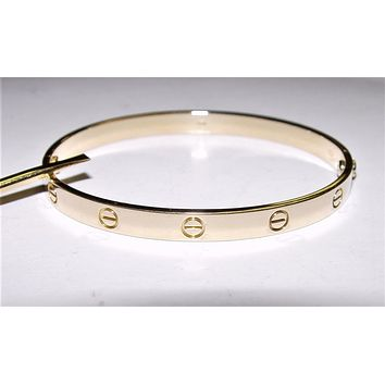 Cartier Love Bracelet Bangle 18K Yellow Gold #20 with Screw Driver