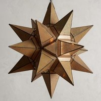 Bashira Lantern, Starburst by Anthropologie in Neutral Size: One Size House & Home