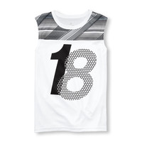 Boys PLACE Sport Sleeveless Printed Yoke Graphic Muscle Tank Top | The Children's Place