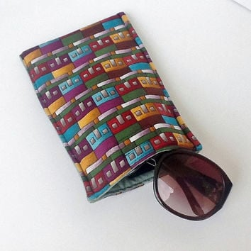 Sunglasses Case Eyeglass Soft Padded Handmade Glasses Pouch Smart Phone Tablet Case Accessory Pouch Cable Organizer