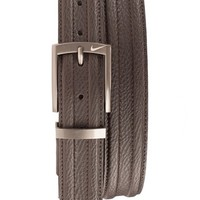 Men's Nike 'Trapunto' Leather Belt,