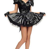 Jina PVC French Maid [pvc075] - £131.85 : The Fantasy Store, Sexy Fantasywear!