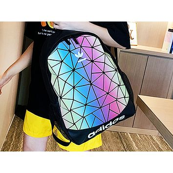 ADIDAS popular men's and women's casual backpacks fashion gradient stitching shopping backpacks #2