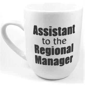 Assistant to the Regional Manager Heat Transfer Vinyl Coffee Mug Handmade The Office Cup