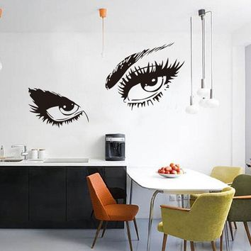 STickeRs Audrey Hepburn's Eyes Silhouette Wall Sticker Decals Home Decor