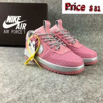 Sneaker paint Nike Lunar Force 1 womens Duckboot Low Cheap Shoes Pink Grey sneaker