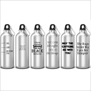 Funny Water Bottles For Coffee Lovers Sports Water Bottles Perfect For Iced Coffee