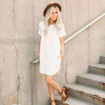 Ivory Pocket Dress