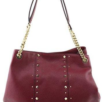 MICHAEL Michael Kors Women's Jet Set Item Large Shoulder STUDDED Leather Handbag  Michael Kors bag