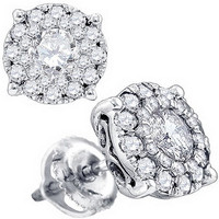 Diamond Jadore Fashion Earrings in 14k White Gold 1.5 ctw