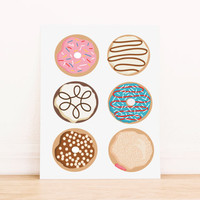 Donut Kitchen Art PRINTABLE Art Dorm Decor Typography Poster Home Decor Office Decor Apartment Poster