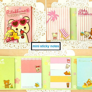 Rilakkuma Sunglasses Sticky Notes - Cute Kawaii Bear Sticky Notes / Stationery / Stationary / School Supplies / Sticky Notes / Mini Memo Pad