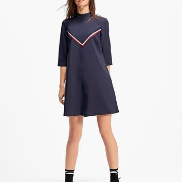 High neck dress with band detail - Dresses | Stradivarius United Kingdom