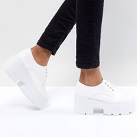 ASOS DESIGN Mega Chunky Lace Up Heels at asos.com
