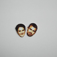 Divergent Theo James and Shailene Woodley Post Stud Earrings Novelty Gift