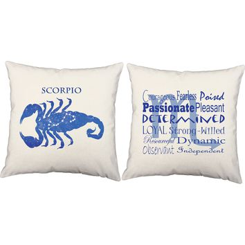 Scorpio Zodiac Throw Pillows